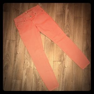 👖 Ladies Sz 4 Express Jean Jegging Coral Like New